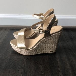 Michael Kors Gold Wedge Sandal